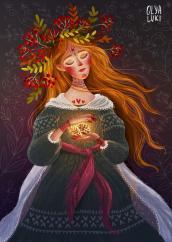 женщина-осень